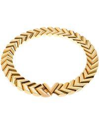 af2f165de6741 Lyst - Louis Vuitton Essential V Necklace M 61083 Brass Plated ...