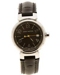 Louis Vuitton - Stainless Steel Q1211 Tambour Women's Wristwatch 28 Mm - Lyst