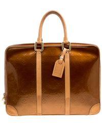 Louis Vuitton - Bronze Monogram Vernis Vandam Briefcase - Lyst