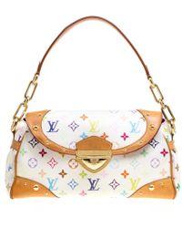 Louis Vuitton - White Monogram Canvas Beverly Bag - Lyst