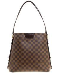 Louis Vuitton - Damier Ebene Canvas And Leather Cabas Rivington Gm Bag - Lyst