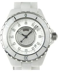 Chanel - Ceramic And Stainless Steel J12 Men's Wristwatch 40mm - Lyst