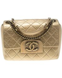 020fa9869e0a98 Chanel Pink Patent Calfskin Mini Square Quilted Crossbody Flap Bag ...