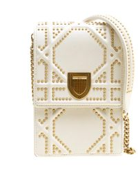 Dior - Off Leather Studded Ama Vertical Clutch - Lyst