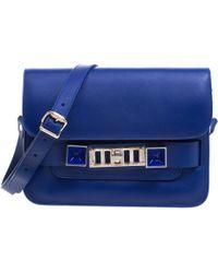 Proenza Schouler - Blue Leather Mini Classic Ps11 Shoulder Bag - Lyst