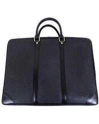 Louis Vuitton - Noir Epi Leather Porte-documents Voyage - Lyst