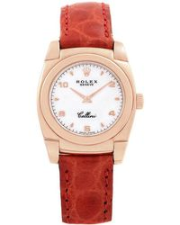 Rolex White 18k Rose Gold Cellini Cestello 5310 Women's Wristwatch 26mm