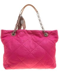 Lanvin - Quilted Leather Amalia Cabas Tote - Lyst