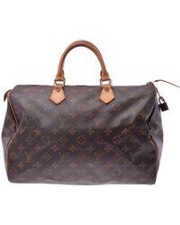 Louis Vuitton - Monogram Canvas Speedy 35 Bag - Lyst