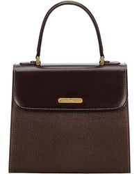 Burberry - Dark Leather Top Handle Bag - Lyst
