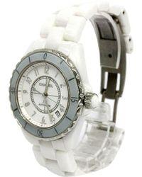 Chanel - Silver Ceramic J12 Men's Wristwatch 38mm - Lyst