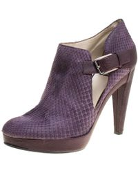 Dior - Python And Leather Buckle Detail Platform Ankle Boots - Lyst
