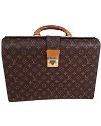 Louis Vuitton - Monogram Canvas Serviette Fermoir Briefcase - Lyst
