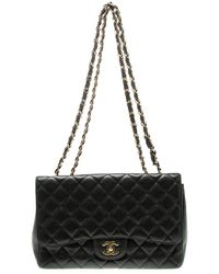 56696c5c5d43 Chanel - Quilted Caviar Leather Jumbo Classic Single Flap Bag - Lyst