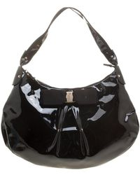 Ferragamo - Patent Leather Miss Vara Hobo - Lyst