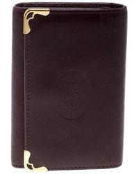 Cartier - Leather Must De Key Holder - Lyst