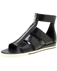 Marc By Marc Jacobs - Python Embossed Leather Flat Gladiator Sandals - Lyst