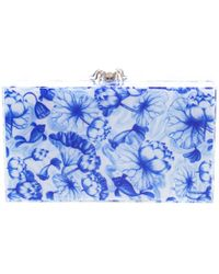 Charlotte Olympia - Blue Ming Print Perspex Spider Pandora Box Clutch - Lyst