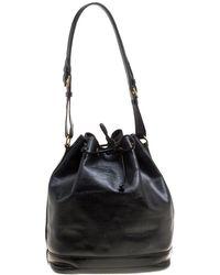 Louis Vuitton - Black Epi Leather Noe Nm Bag - Lyst