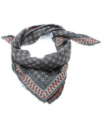 Brunello Cucinelli - Grey Dot And Houndstooth Print Reversible Silk Pocket Square - Lyst