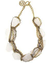 CH by Carolina Herrera - Chain & Rock Necklace - Lyst