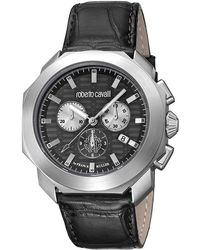 Roberto Cavalli - Stainless Steel Rv1g044l0021 Men's Wristwatch 44mm - Lyst