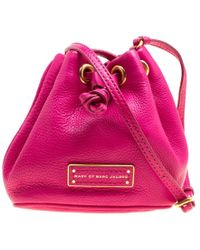 Marc By Marc Jacobs - Hot Leather Mini Too Hot To Handle Drawstring Bucket Crossbody Bag - Lyst