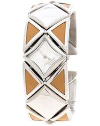 Roberto Cavalli - Silver Stainless Steel Triangle Women's Wristwatch 27 Mm - Lyst