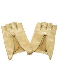 Chanel - Leather Fingerless Gloves 7.5 - Lyst