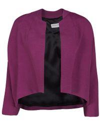 Dries Van Noten - Textured Open Front Cropped Jacket S - Lyst