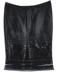 Tom Ford - Cutout Lace Detail Tiered Pencil Skirt S - Lyst