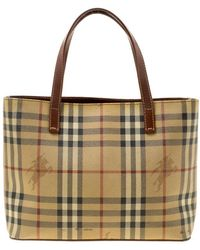3096bdc7be Burberry Smoked Check Pvc Chester Bowling Bag in Natural - Lyst