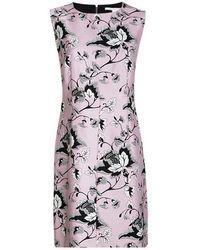 Diane von Furstenberg - Floral Printed Sleeveless Carrie Dress L - Lyst