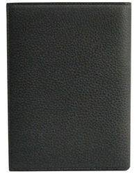 Dior Homme - Dior Homme Black Pebbled Leather Passport Cover - Lyst