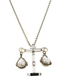 Dior - Tell Me Libra Faux Pear Tone Pendant Necklace - Lyst