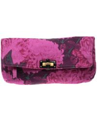 Lanvin - Printed Canvas Happy Clutch - Lyst