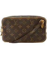 1df4d43b28ff Louis Vuitton - Monogram Canvas Pochette Marly Bandouliere Bag - Lyst