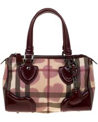 Burberry - Patent Leather Satchel - Lyst