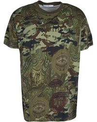 11b8e5dd0 Givenchy - Camouflage Print Crew Neck Columbian Fit Cotton T-shirt M - Lyst