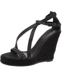 2fa9bb2cad1 Lyst - LD Tuttle Women s Crossover Leather Slides - Black - Size 9.5 ...