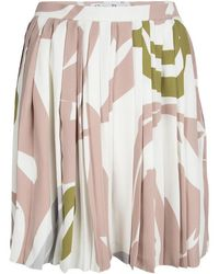 Dior - Printed Silk Pleated Skirt S - Lyst