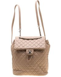 Chanel - Beige Quilted Leather Urban Spirit Backpack - Lyst