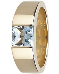 Cartier - Tank Aquamarine Yellow Ring - Lyst