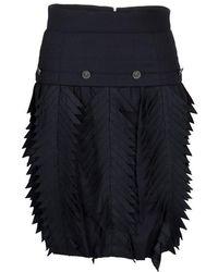 Chanel - Pin Striped Triangular Applique Detail High Waist Skirt M - Lyst