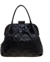 Chanel - Quilted Leather Expandable Zip Around Frame Satchel - Lyst