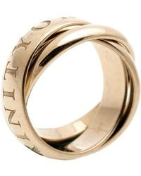 Cartier - Or Amour Et Trinity 18k Yellow Gold Rolling Ring Size 50 - Lyst