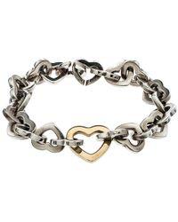 Tiffany & Co. - Heart Link 18k Yellow Gold & Bracelet 17 Cm - Lyst