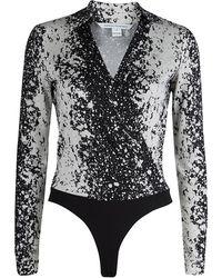 Diane von Furstenberg - Monochrome Print New Jeanne Bodysuit Xs - Lyst