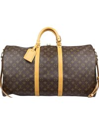 Louis Vuitton - Monogram Canvas Bandouliere Keepall 55 Bag - Lyst