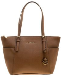 MICHAEL Michael Kors - Saffiano Leather Top-zip Jet Set Tote - Lyst